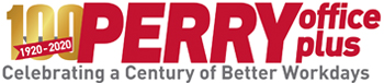Perry Office Plus Turns 100! Logo